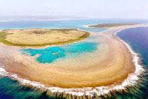 新城島のイノー(竹富町提供写真)