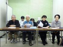 安倍晋三内閣総理大臣に宛ての抗議声明を発表した記者会見=12日