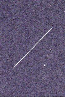 石垣島天文台が撮影に成功した小惑星「2014RC」(8日未明、同天文台提供)
