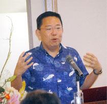 講演する松野支店長(18日午後)