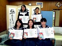 優秀賞を受賞し、九州大会へ派遣される八重山高校放送研究部=18日午後、同校