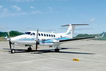 GAST―Dを検証する実験に使われた航空機「よつば」=28日、石垣空港