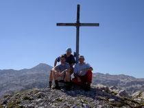 Gipfelsieg auf der Wieswand (Tennengebirge) Im Hintergrund Plateau des Tennengebirges