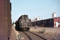 Warenanlieferung per Bahn über die damalige Bahntrasse (1975)
