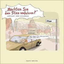 Cover-Seite von H. Merckers Cartoonbuch Moechten Sie den Stau umfahren