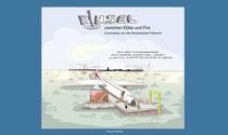Cover-Seite von H. Merckers Comicbuch Pinsel zwischen Ebbe und Flut