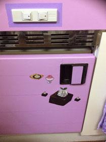 マスキングテープな冷蔵庫