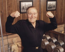 Jack LaLanne at 91  ~ Photo by http://www.jacklalanne.com/