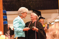 Nola receives her diploma from Governor Sebelius