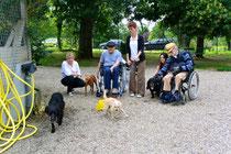 03 juin 2014. 2nd visite du foyer APF René Bonnet au refuge animalier de Brax
