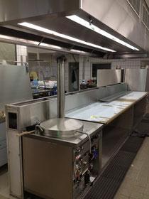 Der Neue Küchenblock wird installiert