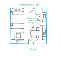 Apartment 201 / Erdgeschoss