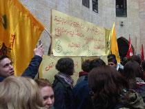 Wahlkampf in der Universität Nablus