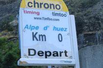 Alpes d´Huez - Stunde 0 und km 0