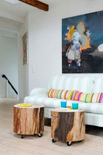 Deco avec des rondins de bois