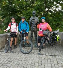 Fabian, Mirko und Britta beim Start.