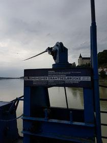 Ottensheimer Drahtseilbrücke. Klasse Technik!