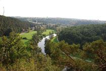 Blick von der Julienhöhe auf Drosendorf und das Thayatal