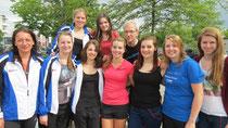 Viel Spaß auf dem Turnfest hatten (von links nach rechts): Silke Bader, Jasmin Schröder, Bettina Friesen, Anja Frank, Julia Wenzel, Lara Elsässer, Niels Gülzow, Karolin Döttling, Valerie Blübaum, Alisa Sauer