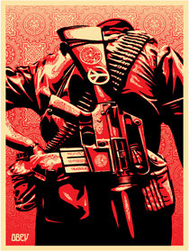 Shepard Fairey Duality of Humanity III