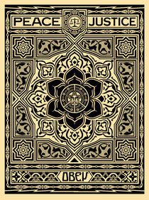 Shepard Fairey Peace and Justice (black)