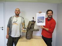 Tobias Schernhammer und Jakob Pöhacker bei der Präsentation des Projektes / Foto Christoph Roland