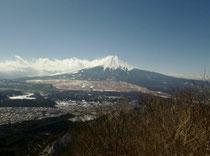 杓子山から臨める富士山