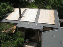 よしずで涼しい屋根
