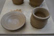 4歳児のロクロ作陶