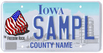 Sample Freedom Rock License Plate