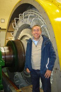 Generator in Revision bei den Kraftwerke Oberhasli (KWO)