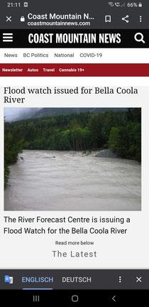 Hochwasser in Bella Coola