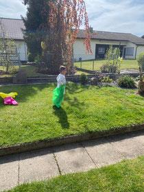 Bewegungs Parcours im Garten