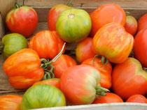 "Tomaten ""Green Zebra"", ""Ochsenherz"", ""Red Cavern"""