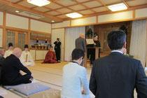 表彰状を受ける生山神社総代会長