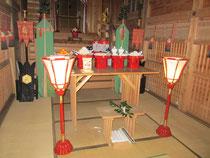 初日供祭 神饌