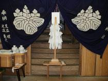 熊野神社拝殿内