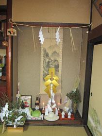 宮坂荒神祭の祭壇