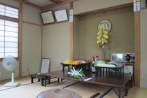 栗尾神社祭の神籬祭壇