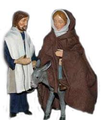 Maria und Josef herbergsuche Milieukrippe Lyskirchen, Krippe Köln