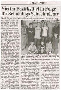 Saison 2003/04 mit ersten Erfolgen der Supertalente von der Wegscheider Grundschule
