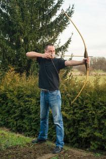 Bogenschießen-Haltung