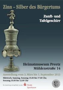 """Ausstellungsplakat """"Zinn - Silber des Bürgertums"""""""