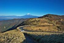 西伊豆スカイライン達磨山から見た富士山