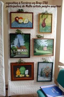 exposition à Ferrières-en-Bray  participation de MaDo artiste peintre amateur.