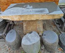 Tischset aus Granitstein - Yin & Yang Asiatika - Steinmöbel
