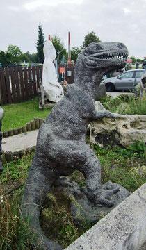 Tyrannosaurus Rex Dinosaurier Gartenfigur Bronzefigur