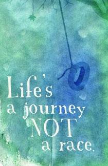 人生は旅。競争じゃないんだよ
