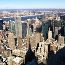エンパイアステート・ビルディングからの眺め