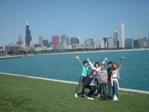 講師と共に、シカゴホームステイ